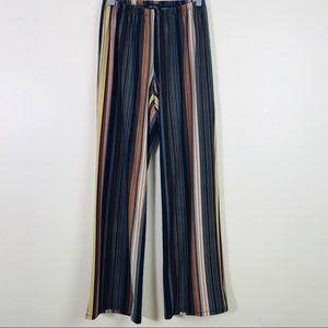 Melissa Paige Womens Striped Palazzo Pants